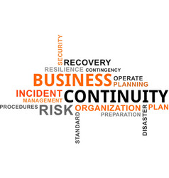 word cloud - business continuity vector image