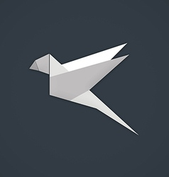 bird paper geometry business logo vector image