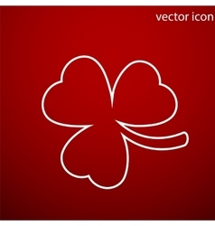 Clover icon and jpg Flat style object Art vector image