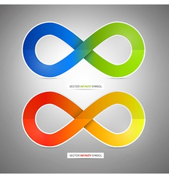 Colorful Paper Infinity Symbols vector image