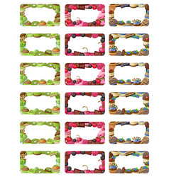cupcakes labels set vector image