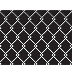 Steel mesh metalic fance black seamless background vector image