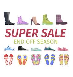 Super sale end off season shoes set vector