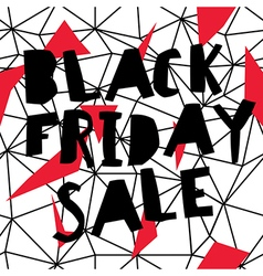 Big Sale Black Friday Sale Poster Low poly vector image vector image