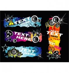 grunge music banner vector image