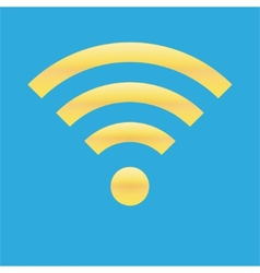 Wifi icon blue yellow color vector image vector image