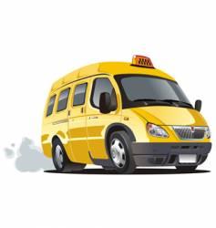 cartoon taxi bus vector image vector image
