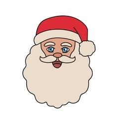 Santa Claus Hand Drawn Portrait vector image