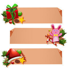 banner template with christmas elements vector image