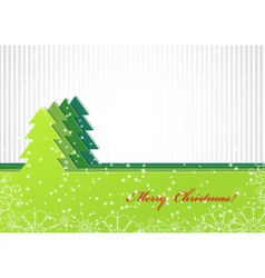 Christmas background with green fir-tree vector image vector image