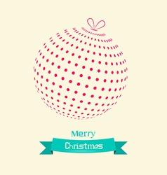 Christmas Ball Retro Card vector image