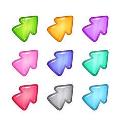 Colorful arrow icons set vector image