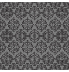 Dark background with seamless ornament vector image vector image