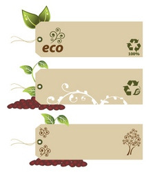 ecology tags vector image