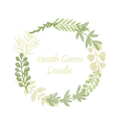 greenery floral circle wreath vector image