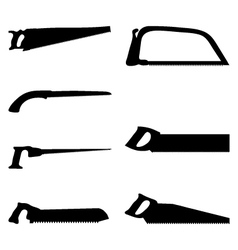 hand saws vector image