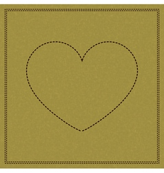 Heart on weave vector image