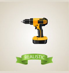 realistic drill element of vector image