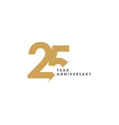 25 year anniversary template design vector