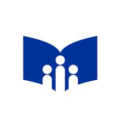 abstract book study school logo icon vector image