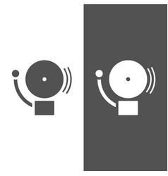 Alarm icon on a dark and white background vector