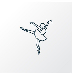 ballet icon line symbol premium quality isolated vector image
