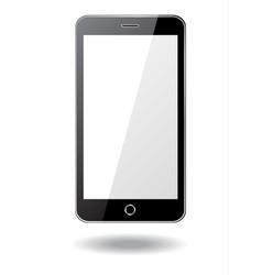 Black smartphone on white background vector