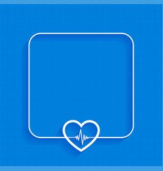 Blue medical background with heartbeat line design vector