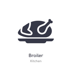 Broiler icon isolated broiler icon from kitchen vector