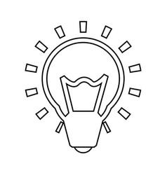bulb light energy vector image