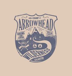 Camp arrowhead vector