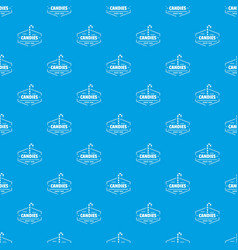 candies pattern seamless blue vector image