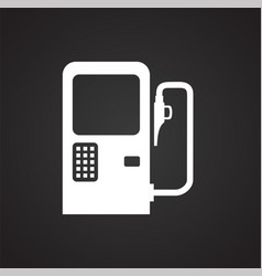 Car petrol station on black background for graphic vector