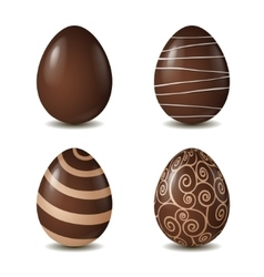 Chocolate eggs collection isolated on white vector image