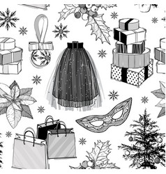 christmas and new year fashion seamless vector image