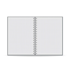 clean notebook icon realistic style vector image