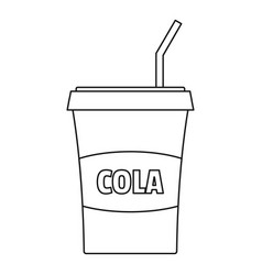 cola icon outline style vector image