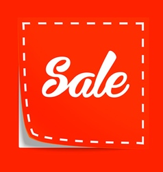 Coupon with Sale tag vector image