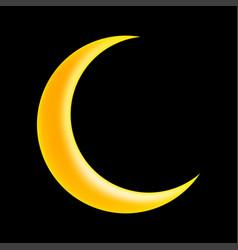 Crescent moon symbol icon design vector