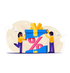 Customer loyalty program discount as a gift vector