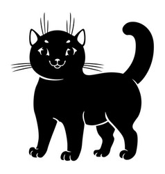 Cute cat silhouettes vector