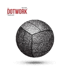 Dotwork Voleyball Sport Ball Icon made in vector