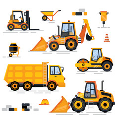 Engineering vehicle building equipment vector