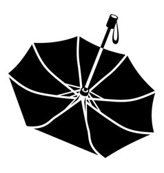 Falling umbrella icon simple style vector
