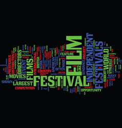 Film festivals text background word cloud concept vector