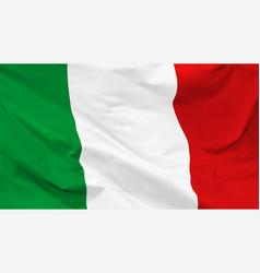 Flag italian republic vector