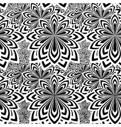 Floral psychedelic seamless pattern vector