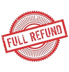 Full refund stamp vector
