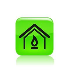 gas home icon vector image