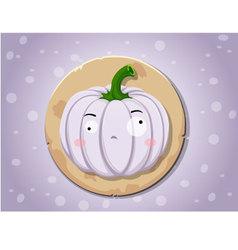 Ghost pumpkin icon vector